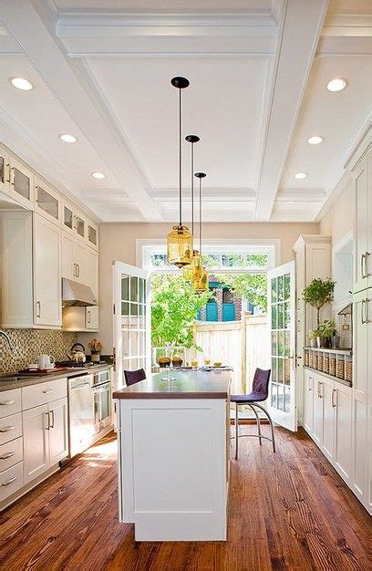 kitchen island length galley kitchen design with a island the wood grain runs the length of the room