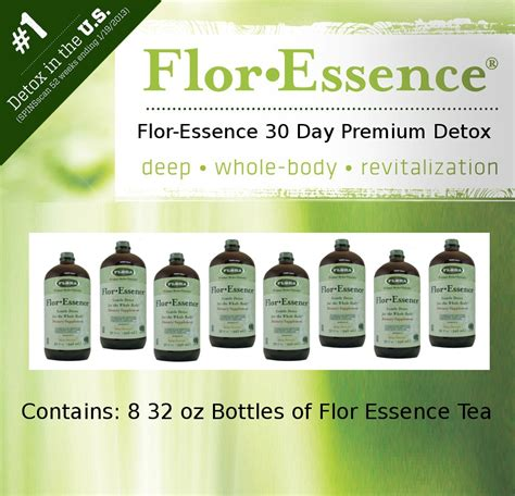 Juice 30 Day Detox by Flor Essence Tea 30 Day Premium Detox