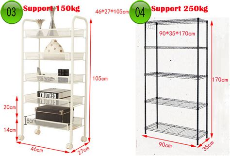 Metal Shelf Rack Singapore by Buy Five Layer Shelves Rack Shelf Kitchen Shelf Bathroom