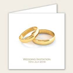 add your names gold rings wedding invitations