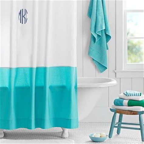 curtain pool classic border shower curtain pool pbteen