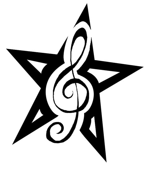 music notes with stars tattoo designs notes symbols tattoos clipart panda free clipart