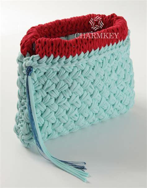 knitting pattern with tshirt yarn handbag knitting yarn t shirt yarn for crochet 100