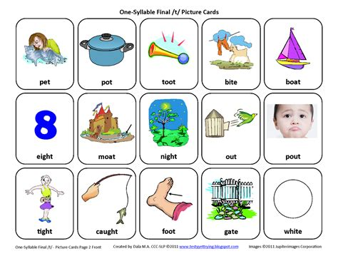 Picture Of Gift Card - testy yet trying final t free speech therapy articulation picture cards