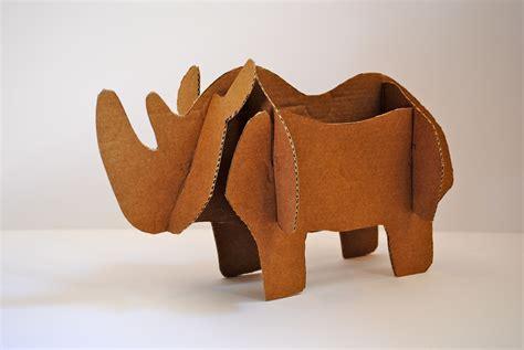 manualidades hechas con carton de animales animales de cart 243 n 171 la cartoneria