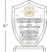 shield recognition plaques for military service diy awards