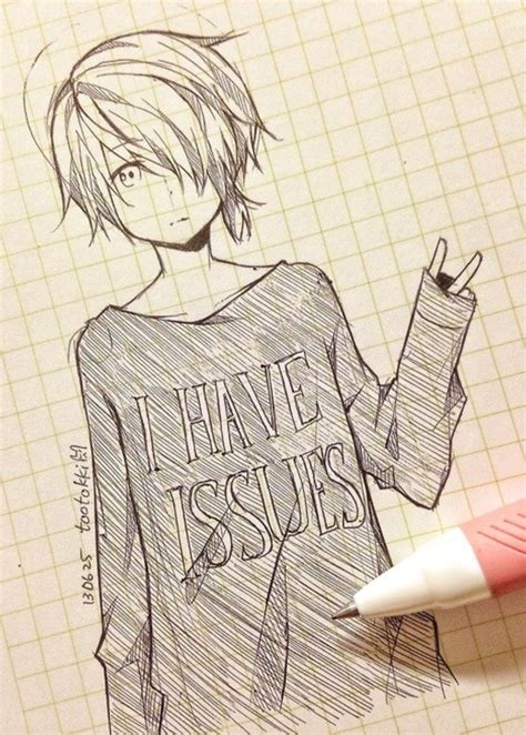 doodle draw anime anime drawing tootokki i issues sweater anime