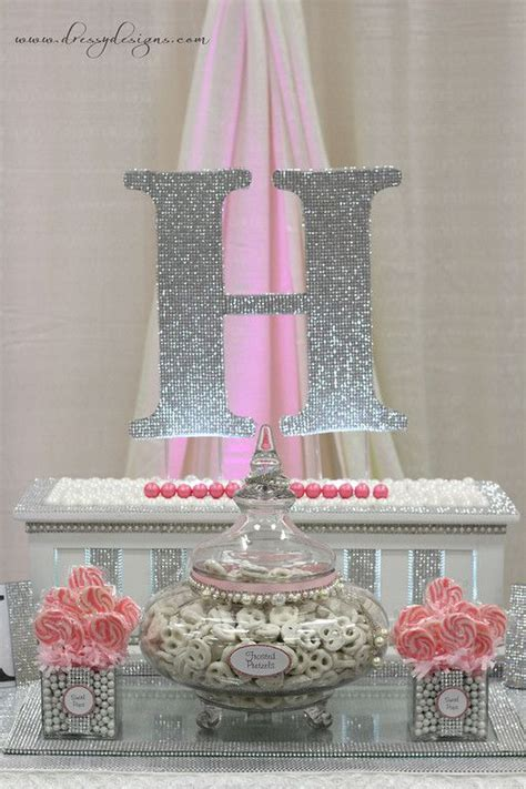 pink and silver table silver and pink dessert buffet pink and