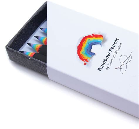 designboom kickstarter rainbow pencils by duncan shotton made from recycled paper