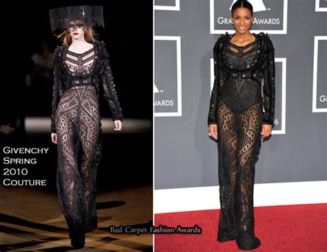 Catwalk To Carpet Grammy Awards runway to 2010 grammy awards ciara in givenchy