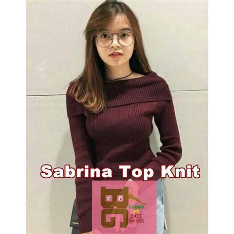 Noni Sabrina Top Atasan Sabrina sabrina top panjang baju rajut atasan wanita shopee