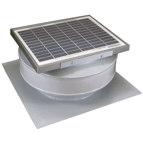 solar powered exhaust fan active ventilation 365 cfm mill finish 5 watt solar
