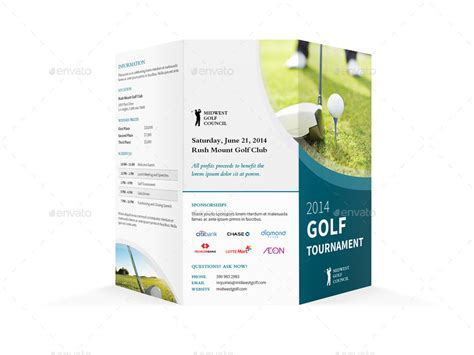 brochure templates golf golf tournament trifold brochure by mike pantone