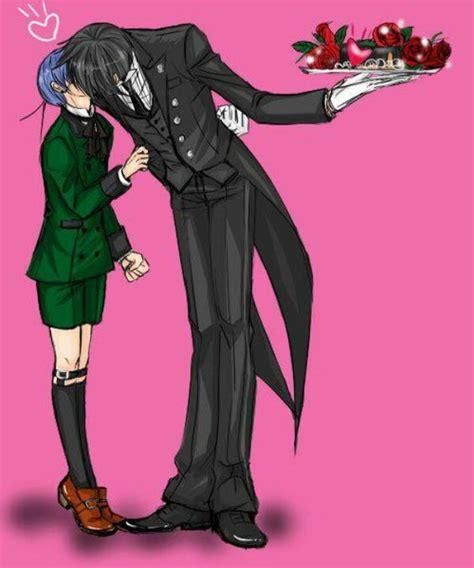anime heaven black butler black butler ciel kisses sebastian kawaii black