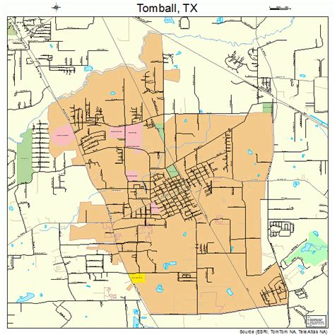 tomball texas map tomball texas map 4873316