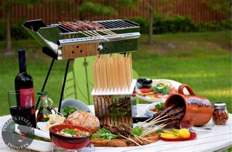 pizzica italian imports  rostigrill bbq skewer grills   contemporary twist handmade