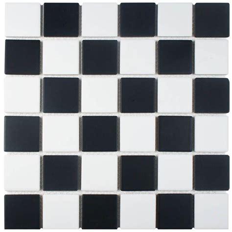 modern checkerboard tile floor merola tile squire checkerboard 12 1 2 in x 12 1 2