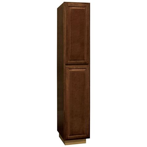 home depot cognac cabinets hton bay hton assembled 18 x 96 x 24 in pantry