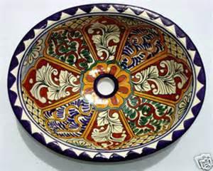 mexican ceramic sinks bathroom m 84 mexican ceramic sink bathroom talavera 17x14 quot ebay
