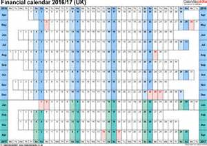 Linear Calendar Template by Financial Calendars 2016 17 Uk In Microsoft Excel Format