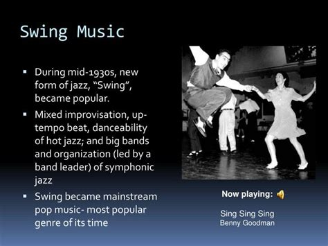 swing pop songs ppt the early history of popular music in the usa