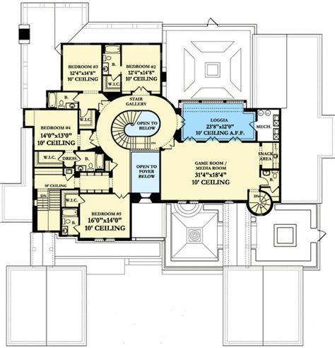 spanish colonial house plans luxury spanish colonial house plan 82012ka 1st floor