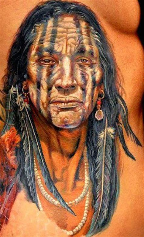 indian warrior tattoo designs american recherche painting