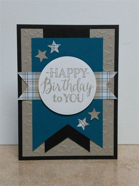 Handmade Mens Birthday Cards - masculine birthday card blue cards
