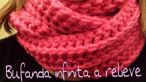 blusa en crochet ganchillo en punto relieve espiral bufanda infinita en relieve infinity scarf in reliel
