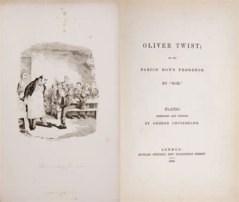 original book with pictures oliver twist