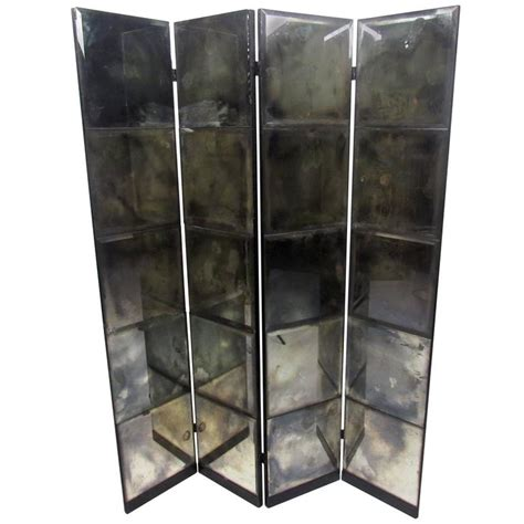 Unique Mid Century Mirrored Room Divider At 1stdibs Mirrored Room Divider