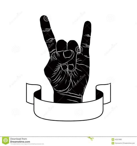 Devil Horns Text Symbol
