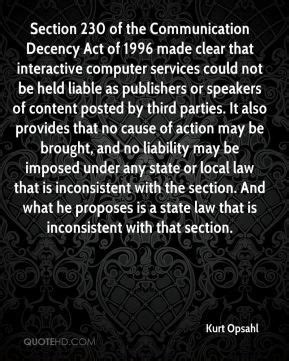 section 230 of the communications decency act common decency quotes quotesgram