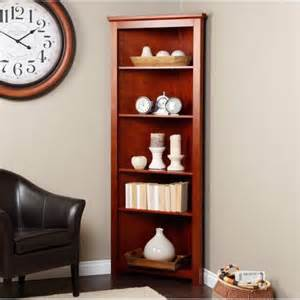 Cherry Corner Bookcase Redford Cherry Corner Bookcase Traditional Bookcases By Hayneedle
