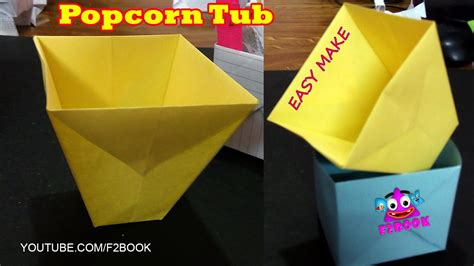 How To Make Things Pop Out On Paper - how to make an easy make popcorn box origmai for
