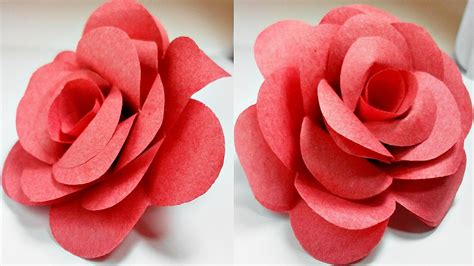 How To Fold Paper Roses - paper flowers diy tutorial easy for children origami