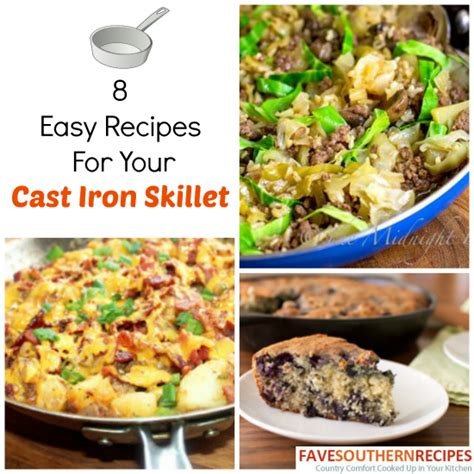 8 easy recipes for your cast iron skillet