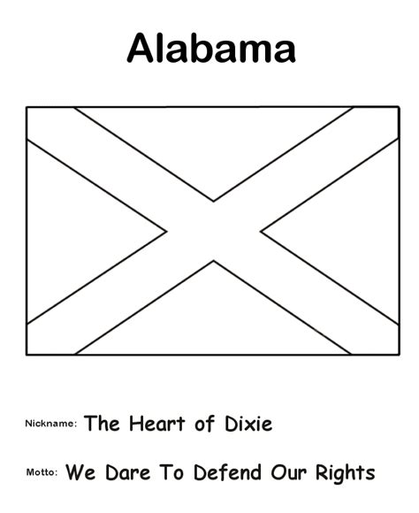 alabama state flag coloring page the history teacher