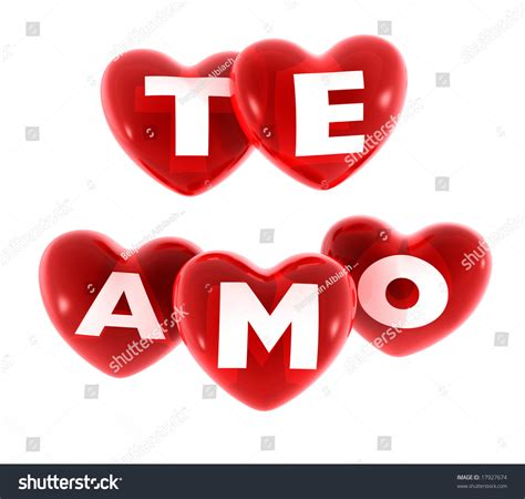 imagenes en 3d te amo hearts with the text te amo stock photo 17927674