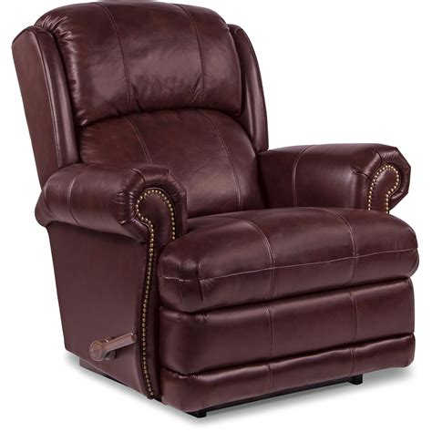 in a recliner kirkwood reclina rocker 174 recliner w brass nail head trim