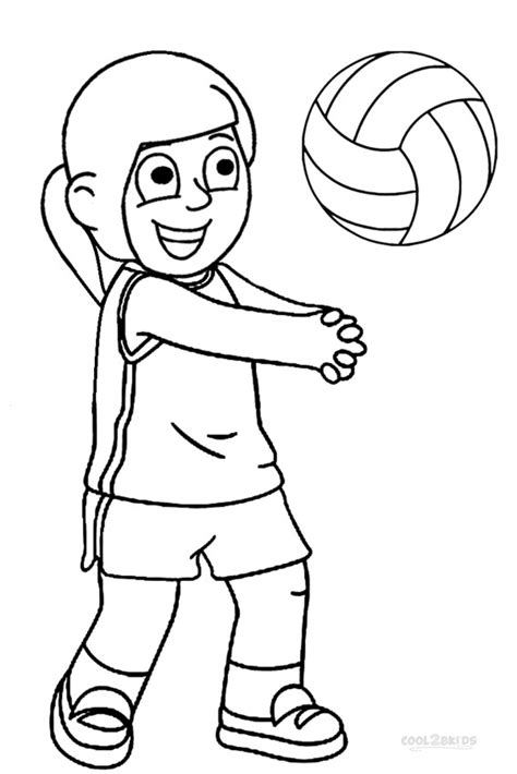 printable volleyball coloring pages  kids coolbkids