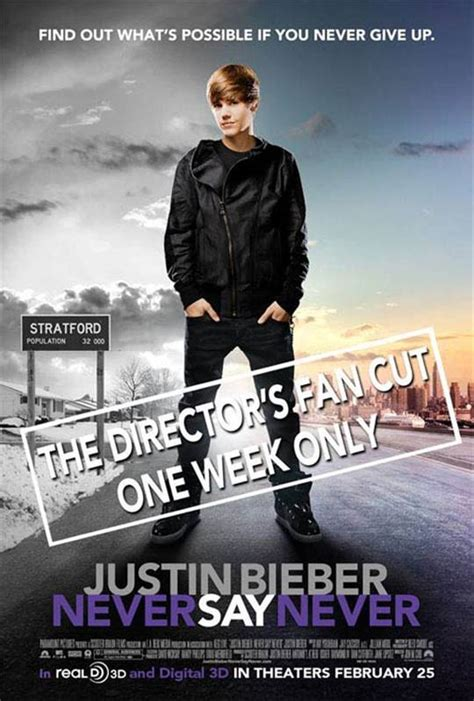 Justin Bieber Book Never Say Never justin bieber never say never the director s fan cut poster