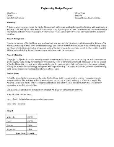design proposal engineering 32 sle proposal templates in microsoft word