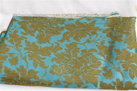 1950s upholstery fabric 1950s 60s vintage brocade upholstery fabric aqua blue w