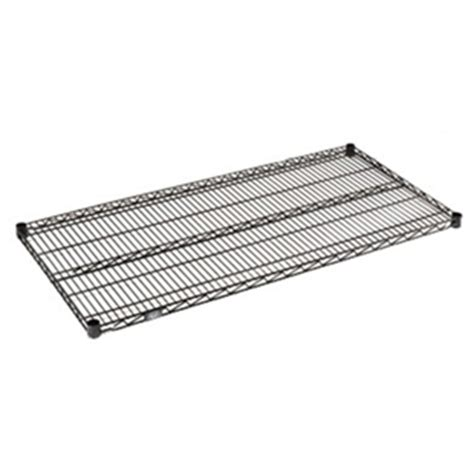 black wire shelving 18 quot d black wire shelves from nexel