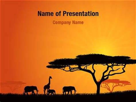 powerpoint zoo themes african wild animals powerpoint templates african wild