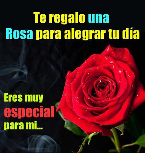 te regalo una rosa la mas hermosa la mas bella de todas para ti te regalo una rosa para alegrar tu d 237 a eres muy