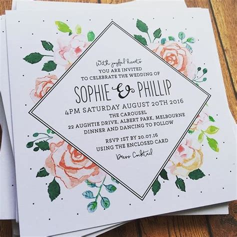 Square Wedding Invitation Template by Wedding Invitations Via The Print Fairy Paper