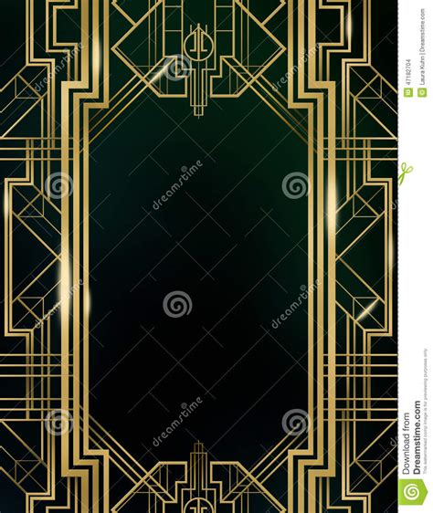 brown symbolism in the great gatsby art deco great gatsby background stock photo image 47182704