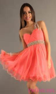 dave amp johnny one shoulder prom dress short ball gown